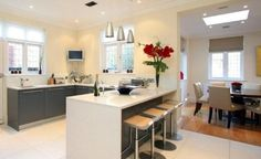 lovehome.co.uk: Open plan kitchen design ideas flooring zone ideas