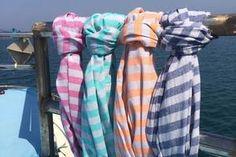 Ailera Ltd - Tia Lightweight Hamam Towel - Turkish Bath, Turkish Towels, Olympia London, Terry Towel, Beach Accessories, Top Drawer, Stripes Design, Bath Towels, Plaid Scarf