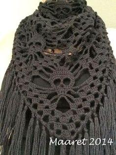 Maaretin Kortit, Korut ja Käsityöt: Pääkallohuivi Decoden, Knitting Accessories, Knit Crochet, Crochet Patterns, Weaving, Crafty, Inspiration, Crocheting, Halloween