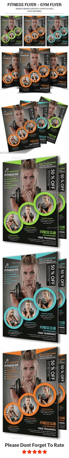 Fitness Flyer Template Flyer template, Fitness and Flyers - fitness flyer