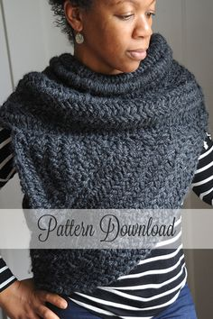 KNITTING PATTERN // Katniss Cowl Pattern // The Archer's Poncho // The Huntress Cowl // The Katniss Inspired Cowl