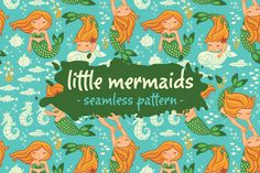 Little mermaids pattern by PenguinHouse on Creative Market