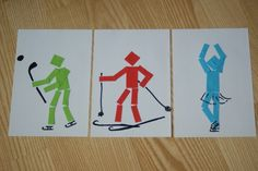Sochi 2014 Winter Olympics' Logo and Pictograms Winter Crafts For Toddlers, Winter Activities For Kids, Christmas Art Projects, Projects For Kids, 2nd Grade Art, Sport Craft, Fathers Day Crafts, Kid Crafts, Art Lessons Elementary