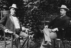 American Gilded Age Presidents  ~ Theodore Roosevelt, (on right) became the 26th American President, in c.1901. Roosevelt took over the office of presidency when William McKinley, (on left) the 25th President, from c.1897 to c.1901, was assassinated on September, c.1901. ~ {cwlyons} ~ (Image via: bob520 - wordpress)