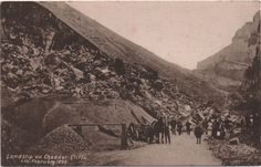 SOMERSET:Cheddar RP   Landslip on Cheddar Cliffs 4th February 1898