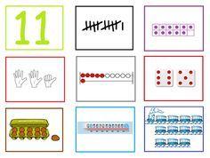 Cijferkaarten bij spel: Tel en zoek je mee? - Digibord Onderbouw