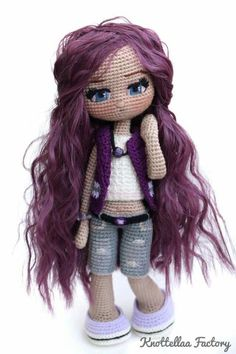 150 Best Cute Crocheted Amigurumi Patterns Ideas Pictures - Page 41 of post was discovered by kesmat maher. amigurumi for beginners; Crochet Dolls Free Patterns, Crochet Doll Pattern, Doll Patterns, Crochet Fairy, Cute Crochet, Crochet Toys, Yarn Dolls, Knitted Dolls, Dress Up Dolls