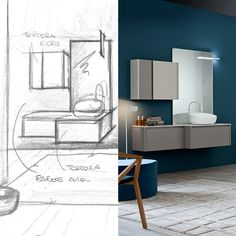 Curious to discover the #concept behind Tender collection? #fromsketchtoproduct #sketches #project #design #bathdesign #desigbath #bathroom #interiors #interiordesign #italiandesign #homedecor #luxury #dreambathroom #backstage #idea #furniture #archilovers