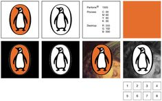 """""""I went straight off to the zoo to spend the rest of the day drawing penguins in every pose,"""" said Penguin's original logo designer Edward Young, who was a submariner during World War II. Penguin Logo, Penguin Books, Pantone, Logo Design Love, Graphic Design, Design Design, Logo Guidelines, Logo Branding, Logos"""
