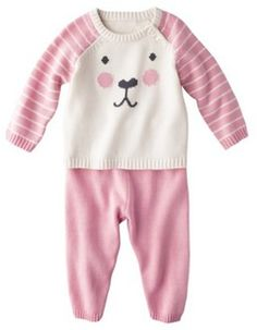 Cherokee® Newborn Girls' 2 Piece Sweater Set - Pink