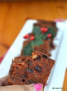If you didn't soak any fruits for the Fruit (plum) cake then no worries here Eggless, Alcohol-free with soaking of fruits hours or over night makes this cake super delicious Eggless Recipes, Eggless Baking, Baking Recipes, Cake Recipes, Xmas Recipes, Fruit Recipes, Dessert Recipes, Healthy Recipes, Tea Cakes