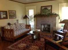 Arts Crafts Living Room Mission Craftsman Bungalow This Is