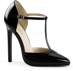 Classy Elegant T-Strap D'Orsay Pumps Sexy Stiletto High Heels Shoes Adult Women