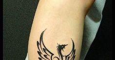Phoenix tattoo design, foot tattoo design