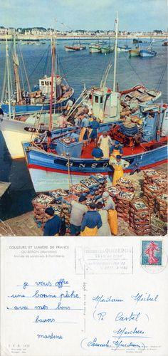 Quiberon - Arrivée des sardiniers à Port-Maria - 1961 (from http://mercipourlacarte.com/picture?/70) Éditions d'Art Yvon