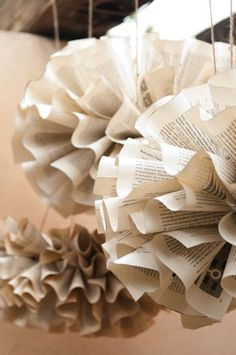 book pages....hanging in foyer corner by stairs