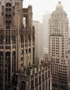My favorite building in Chicago! the Chicago Tribune Building Architecture Design, Amazing Architecture, Classic Architecture, Gothic Architecture, The Places Youll Go, Places To See, Beautiful Buildings, Beautiful Places, Chicago Tribune