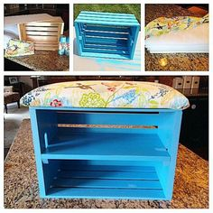 Diy Home Crafts, Wood Crafts, Diy Home Decor, Pallet Furniture, Painted Furniture, Home Furniture, Teen Decor, Home Daycare, House Plants Decor