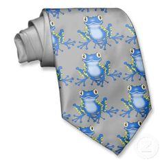 Cartoon Frog tie