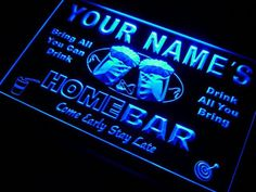 Name Personalized Custom Home Bar Beer Neon Light Sign- 7 Colors - FREE SHIPPING