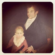 A tender touch. (Antique portrait of father and child found at an estate sale in Southampton, NY)