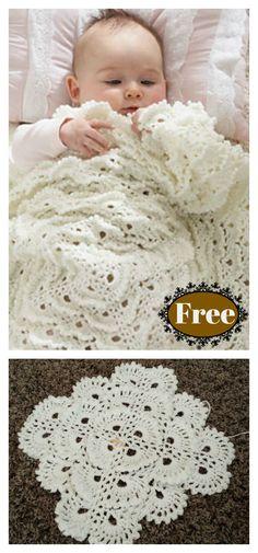 Fluffy Meringue Stitch Baby Blanket Free Crochet Pattern #freecrochetpatterns #afghan #blanket