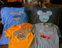 DIY Disney shirts.