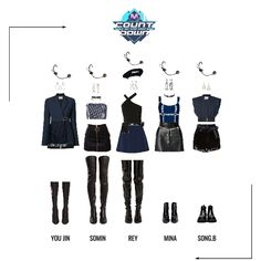 Kpop Fashion Outfits, Stage Outfits, Edgy Outfits, Dance Outfits, Girl Outfits, Cute Outfits, Mode Kpop, Korean Girl Fashion, Looks Style
