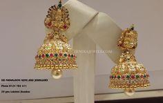 20+Grams+Gold+Lakshmi+Jhumka+Design
