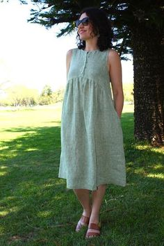 Lisa Dress – this loose and comfortable highwaisteddress features a sleeveless bodice ...
