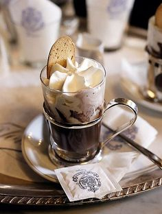 Hot Chocolate at Cafe Florian in Venice. I Love Coffee, Coffee Break, Morning Coffee, Coffee Cafe, Coffee Shop, Coffee Lovers, Coffe Bar, Iced Coffee, Art Cafe