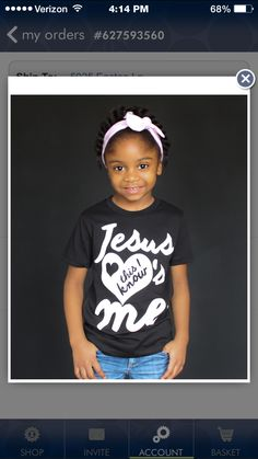 Ordered this for Erin! Can't wait for it to come in !!! <3 #christian #shirts #baby #jesuslovesme