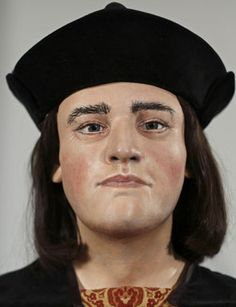 A plastic facial reconstruction model made from the recently discovered skull of England's King Richard III.