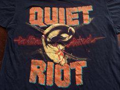 Vintage QUIET RIOT Tshirt 1984 Tour /RARE by sweetVTGtshirt, $75.00