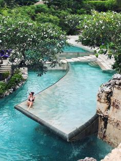 River pool at the Ayana Resort, Bali. Want to go to Bali so bad😫 Places Around The World, Oh The Places You'll Go, Places To Travel, Around The Worlds, Hidden Places, Vacation Destinations, Dream Vacations, Vacation Spots, Vacation Resorts