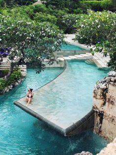 River pool at the Ayana Resort, Bali | @dreamexploring | #dreamexploring