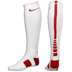 Nike Elite Basketball Over The Calf Sock - Men s - Basketball - Accessories  - White Gym Red 35a3234f5