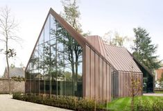 This section of the home is covered in glass panels