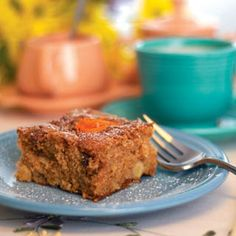Overnight Apple Coffeecake~ Prepare this apple-cinnamon coffeecake at night and pop it in the oven the next morning for a breakfast treat.