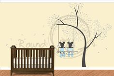 Mickey and Minnie wall decal, if we have a girl I want this so bad! But with pink clothes on Minnie :-)