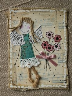 https://flic.kr/p/345dEL | ATC_anioł z kwiatami | for Chabrówka