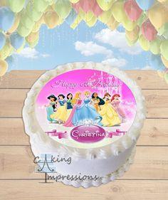 Disney Princess Edible Image Cake Topper [ROUND]