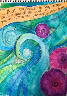 The Mermaid's Closet: Dylusions Ink Spray and Tim Holtz Distress Re-Inkers