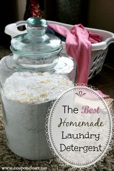 How to Make Homemade Laundry Detergent for HE Washers. It is sensitive enough for to as a Homemade baby laundry detergent.
