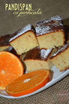 pandispan-cu-portocala Cornbread, French Toast, Low Carb, Breakfast, Ethnic Recipes, Food, Millet Bread, Morning Coffee, Meal