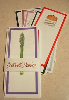 Free Printable Illustrated Cookbook Markers