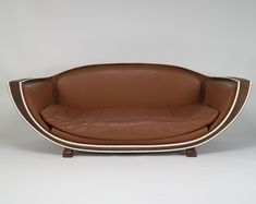 Art Deco Marcel Coard sofa - c. 1927 - for Jacques Doucet residence in Paris - Rosewood, leather, ivory sofa - Virginia Museum of Fine Arts - Art Deco Furniture