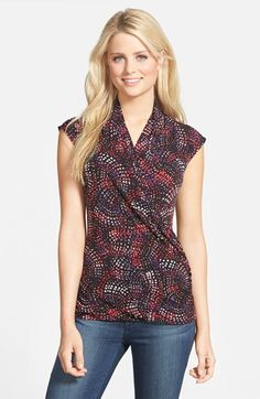 Vince Camuto Faux Wrap Top (2 for $69) available at #Nordstrom
