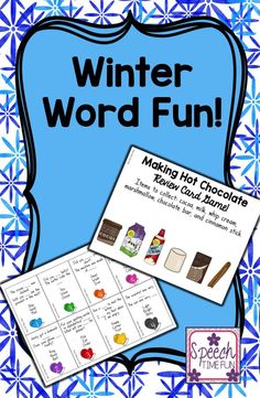Speech Time Fun: Winter Word Fun.  Great way to work on categorization, compare/contrast, object function, multiple meaning words, and sequencing!