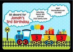 Train Birthday Party Invitations by PMCInvitations on Etsy, $1.00